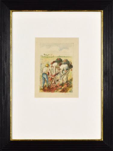 Camille Pissaro: La Charrue